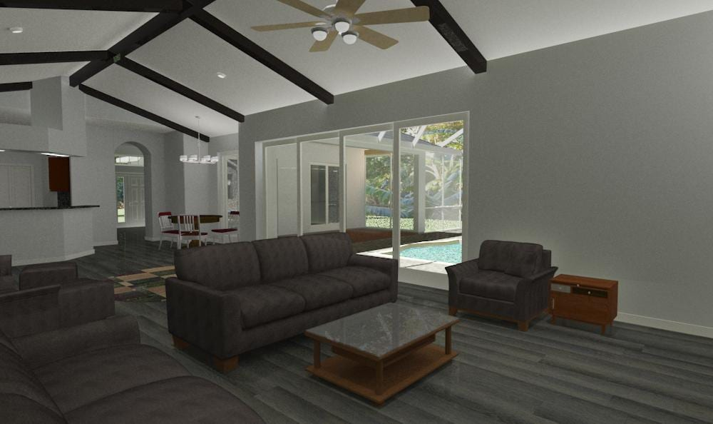 REVISED LIVING ROOM VIEW 2