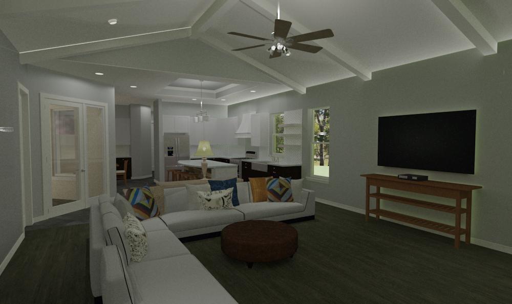 interior view A