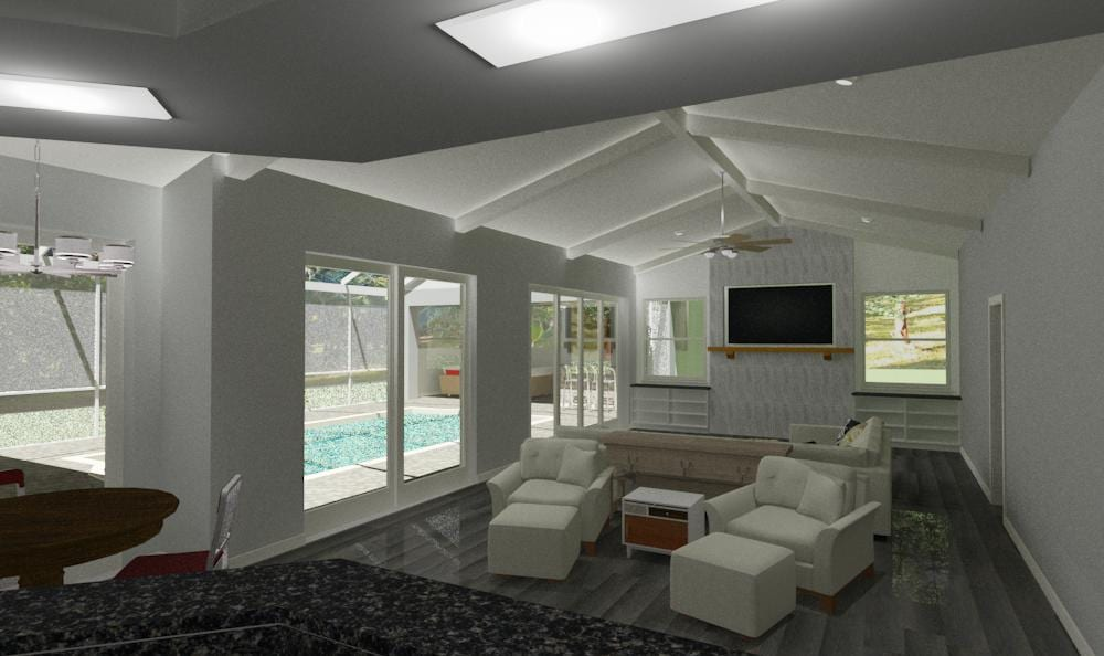 interior view of living room area