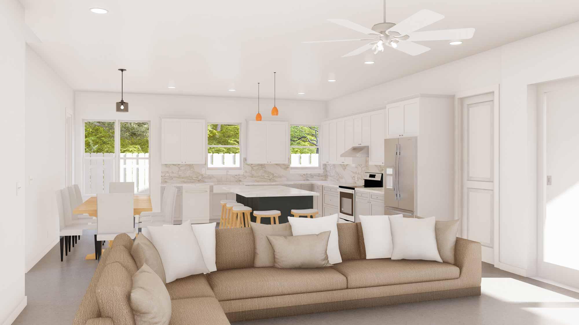 Bright White Modern Interior Florida Custom Home